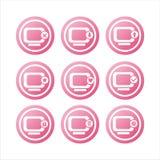 Pink monitor signs Royalty Free Stock Image