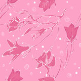 Pink monochrome pattern Royalty Free Stock Images