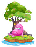 A pink monster crying in the island Stock Photography