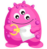Pink monster school Stock Images