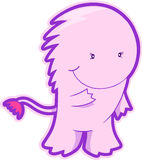 Pink Monster Vector. Cute Pink Monster Vector Illustration Royalty Free Stock Photos