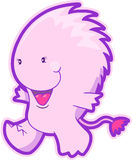 Pink Monster Vector. Cute Pink Monster Vector Illustration Stock Photography