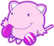 Pink Monster Vector. Cute Pink Monster Vector Illustration Stock Photo