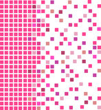 Pink mosaic background. Simple  mosaic background in pink color Royalty Free Stock Photos