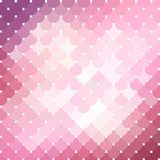 Pink mosaic background_2. Vector diagonal background. This is file of EPS10 format Stock Photography