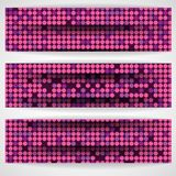 Pink Mosaic Background Stock Images