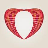 Pink mosaic heart Stock Photos