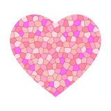 Pink mosaic heart Stock Photos