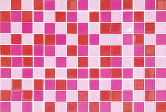 Pink mosaic tiles. Modern style Royalty Free Stock Photo