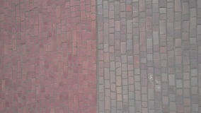 Pink mosaic wall decoration texture Stock Photography