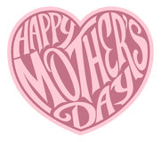 Pink Mothers Day Heart Stock Image