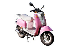 Pink motor scooter Stock Photography
