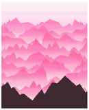 Pink Mountain Landscape Royalty Free Stock Photos