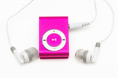 Pink mp 3 player Royalty Free Stock Image