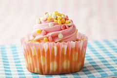 Pink muffin Royalty Free Stock Image