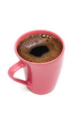 Pink mug from coffee Stock Photography