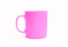 Pink mug. Isolated on white background Royalty Free Stock Images