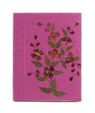 Pink mulberry paper book. Hand made Royalty Free Stock Photography