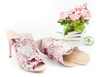 Pink mules Stock Images