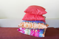 Pink and multicolor pillow Royalty Free Stock Photo