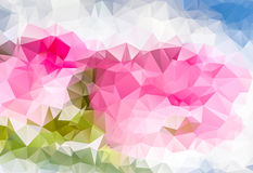 Pink multicolored abstract background of triangles Royalty Free Stock Photo