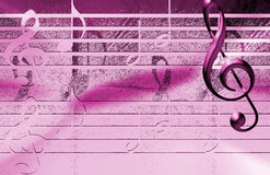 Pink Music Background Stock Photos