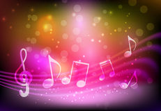 Pink music background Royalty Free Stock Image