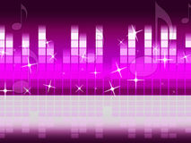 Pink Music Background Means Singing Jazz And Piece Stock Image