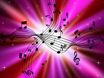 Pink Music Background Shows Musical Instruments And Brightness Royalty Free Stock Photography