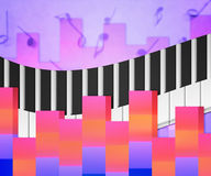 Pink Music Notes Background Royalty Free Stock Photo
