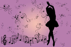 Pink musical background Stock Photo
