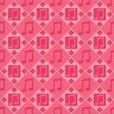 Pink Musical Notes Pattern Royalty Free Stock Image