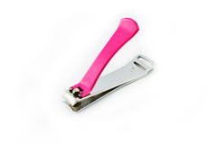 Pink Nail clippers Royalty Free Stock Photo