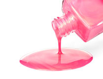 Pink Nail Polish Stock Images