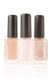 Pink nail polish bottles group Royalty Free Stock Images