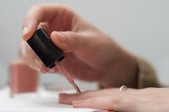 Pink nail polish Royalty Free Stock Photos