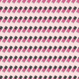 Pink nail polish seamless pattern inclined. Digital drawing of nail lacquers in a row. Inclined view Stock Images