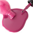 Pink nail polish Stock Image