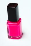 Pink nail polish on white background Royalty Free Stock Photography