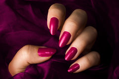 Pink nails Royalty Free Stock Images