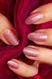 Pink nails Royalty Free Stock Photos