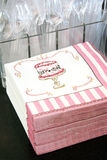 Pink napkins Royalty Free Stock Images