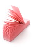 Pink narrow post-it. Stack of pink narrow post-it on white background Royalty Free Stock Image