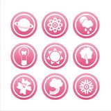 Pink nature signs Stock Photo