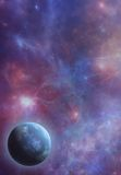 Pink Nebula. A premade space scene for artists to use in their backgrounds Stock Image