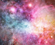 Pink nebula. Beautiful pink and blue and orange nebulae space background Stock Photo