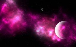 Pink Nebula Background Stock Image