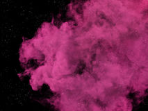 Pink nebula and stars in galaxy Royalty Free Stock Photo
