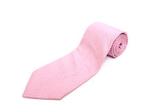 Pink neck tie. Isolated on white royalty free stock image