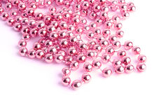 Pink necklace Stock Photo